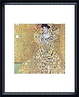 ポスター グスタフ クリムト アデーレ・ブロッホ=バウアーの肖像 1907 額装品 ウッドハイグレードフレーム(ネイビー)