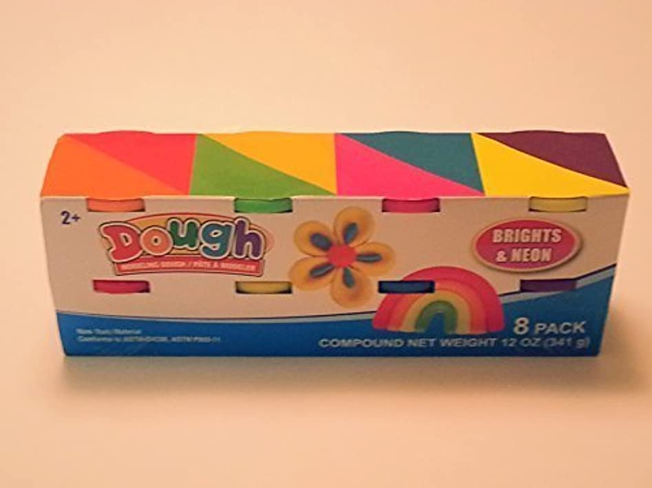 Modeling Dough 8 ct ,Primary and Neon colors by Greenbrier International Inc [並行輸入品]