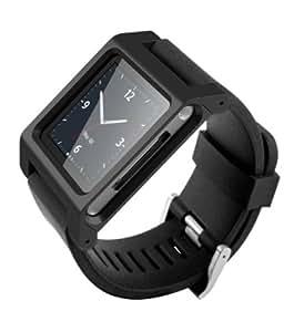 ユニーク iPod nano専用ウォッチバンド iWatch ブラック AS001WBB