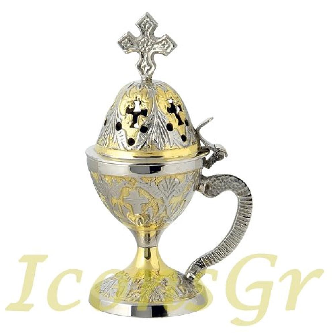 ホーン主流考慮Christian Byzantine Orthodox Greek香炉香炉Liturgy ( 78-gn )