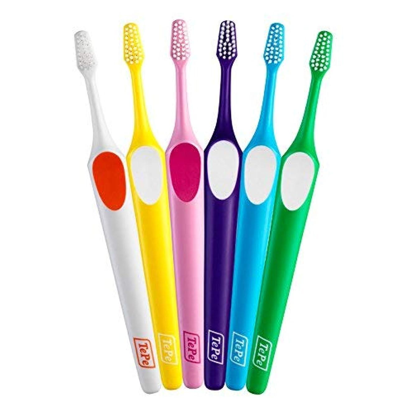胴体反応するピューTePe テペ 歯ブラシ スプリーム コンパクト 20本入