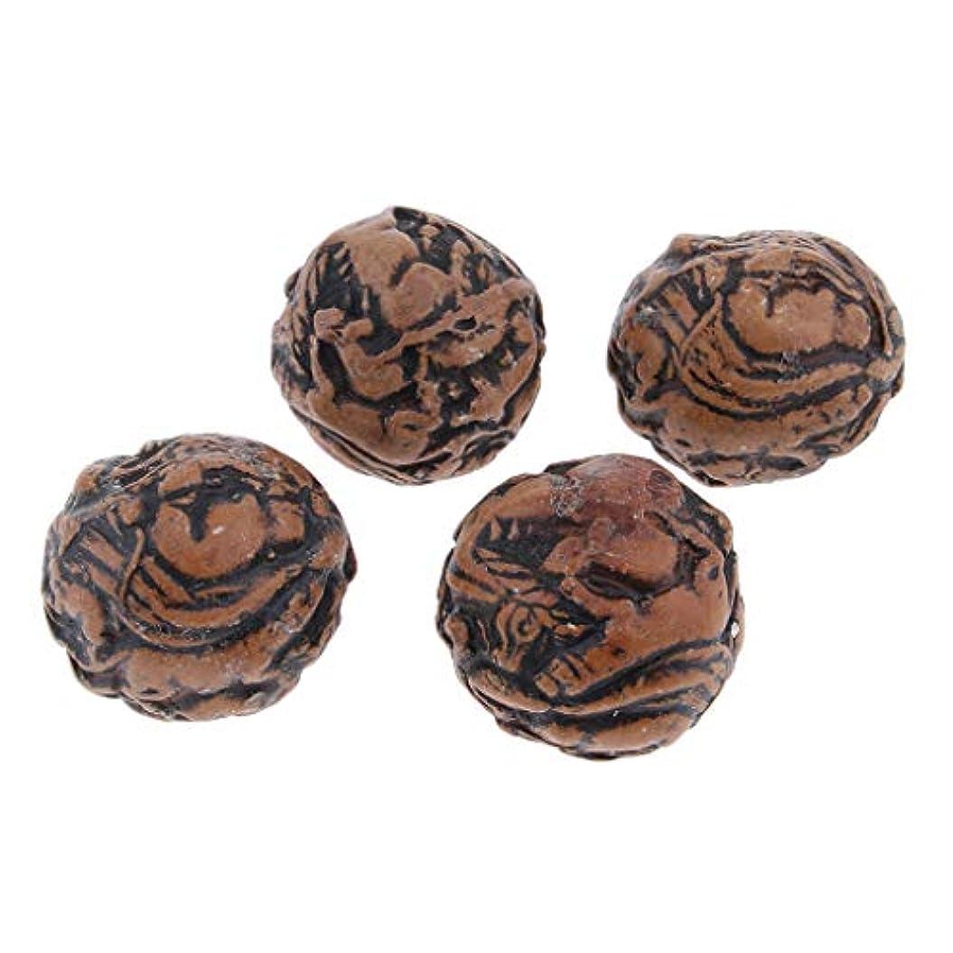 対応するエンコミウムテーブルPerfeclan 4個 手の運動ボール 木製ボール トリガー ポイントマッサージボール