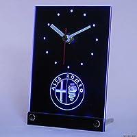 アルファロメオ Alfa Romeo LED テーブル クロック 置時計