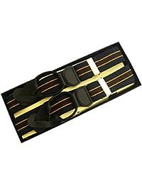 (ブレイス)Brace 6ボタン止め サスペンダー メンズ 紳士 英国 AZ Navy/Gold/Brown/Stripe/BlackLeatherend B290