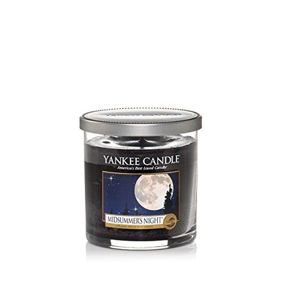 鉄道駅子羊さておきYankee Candles Small Pillar Candle - Midsummers Night (Pack of 2) - ヤンキーキャンドルの小さな柱キャンドル - Midsummers夜 (x2) [並行輸入品]