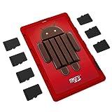 DiMeCard micro8 microSD メモリーカードホルダー― ANDROID KITKAT エディション(クレジットカード・サイズの超薄型ホルダー、記入可能なラベル)