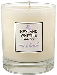 Heyland & Whittle Citrus and Lavender Candle (Pack of 2) - Heyland&削るシトラスとラベンダーキャンドル (Heyland & Whittle) (x2)...