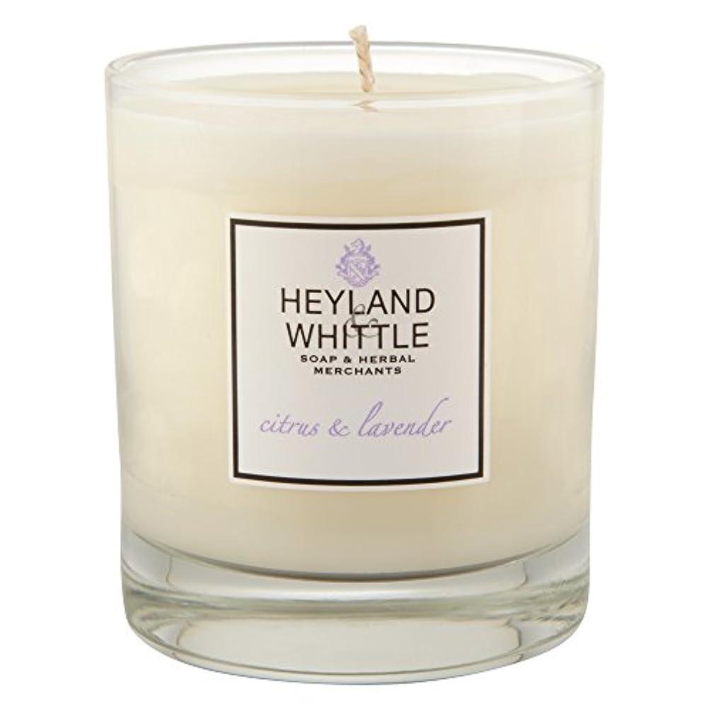 地下鉄上へプラカードHeyland & Whittle Citrus and Lavender Candle (Pack of 2) - Heyland&削るシトラスとラベンダーキャンドル (Heyland & Whittle) (x2)...