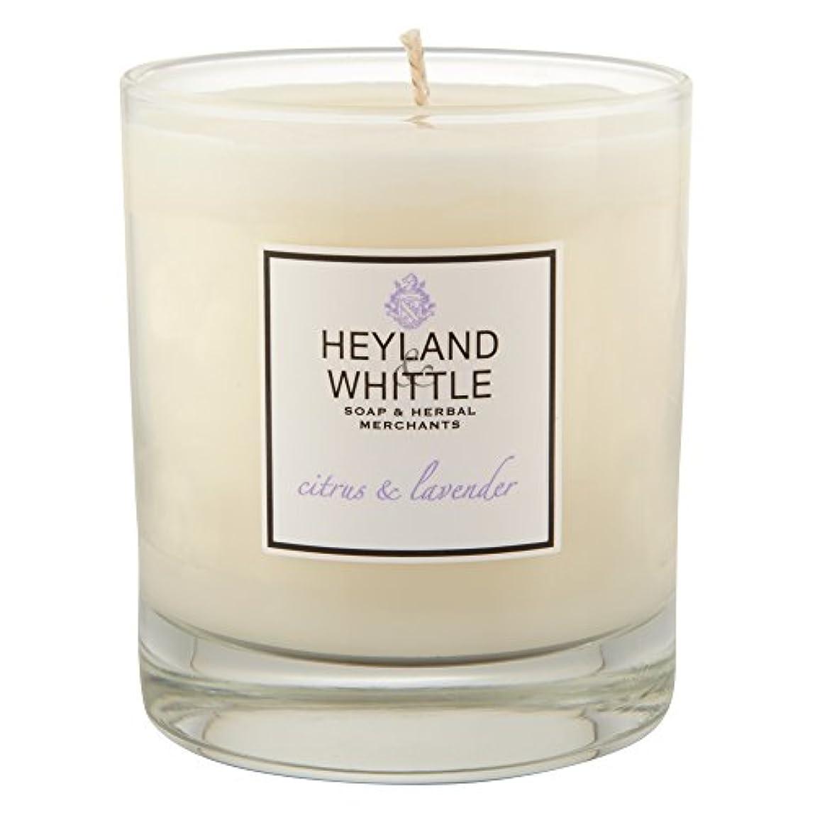 杖うま風変わりなHeyland&削るシトラスとラベンダーキャンドル (Heyland & Whittle) - Heyland & Whittle Citrus and Lavender Candle [並行輸入品]