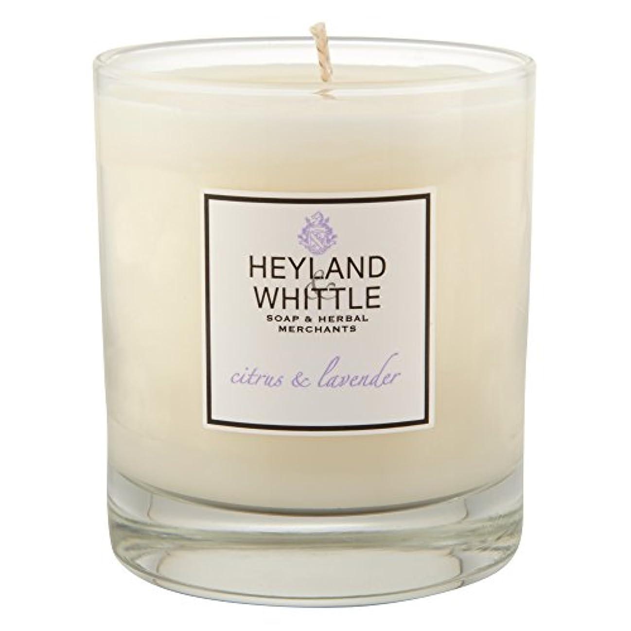 ペルソナ主に枯れるHeyland & Whittle Citrus and Lavender Candle (Pack of 2) - Heyland&削るシトラスとラベンダーキャンドル (Heyland & Whittle) (x2)...