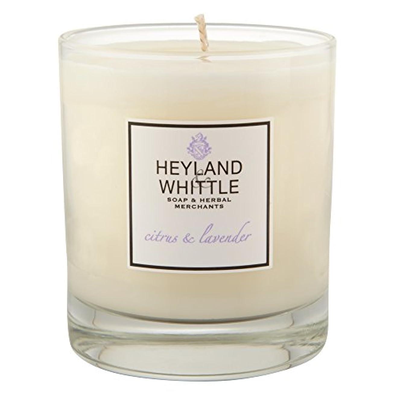 コンプリート終わらせる元気なHeyland&削るシトラスとラベンダーキャンドル (Heyland & Whittle) - Heyland & Whittle Citrus and Lavender Candle [並行輸入品]