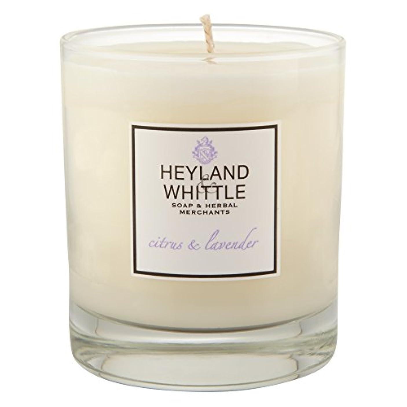 転送クールスクリューHeyland & Whittle Citrus and Lavender Candle (Pack of 2) - Heyland&削るシトラスとラベンダーキャンドル (Heyland & Whittle) (x2)...