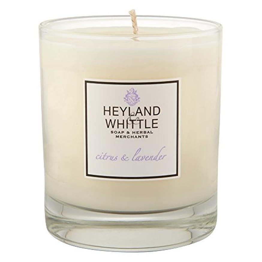 プロテスタント話背の高いHeyland&削るシトラスとラベンダーキャンドル (Heyland & Whittle) - Heyland & Whittle Citrus and Lavender Candle [並行輸入品]