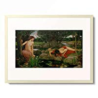 ジョン・ウィリアム・ウォーターハウス John William Waterhouse 「Echo and Narcissus」 額装アート作品