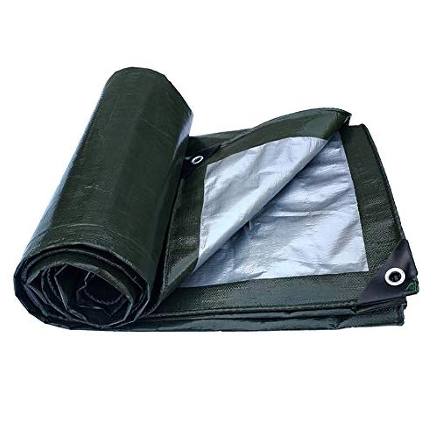 擬人化ロードハウス支払いYushengxiang 防水布防水防水シート防水日焼け止めトラック防水シート屋外サンシェード防塵防風高温アンチエイジング (Color : Green+gray, サイズ : 4x5M)