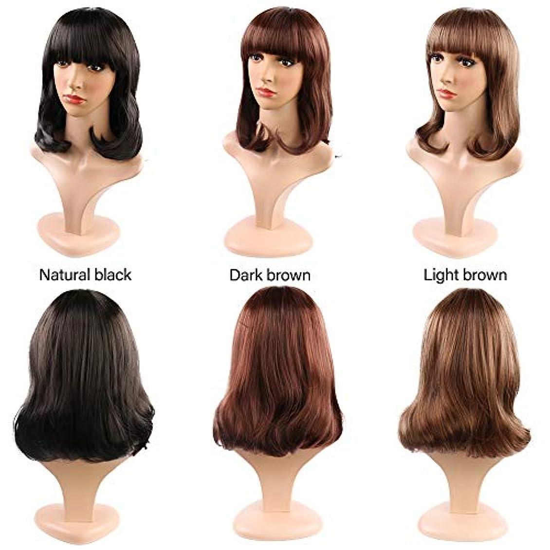 ホールドオール時間とともに小人女性の短い巻き毛のかつら14