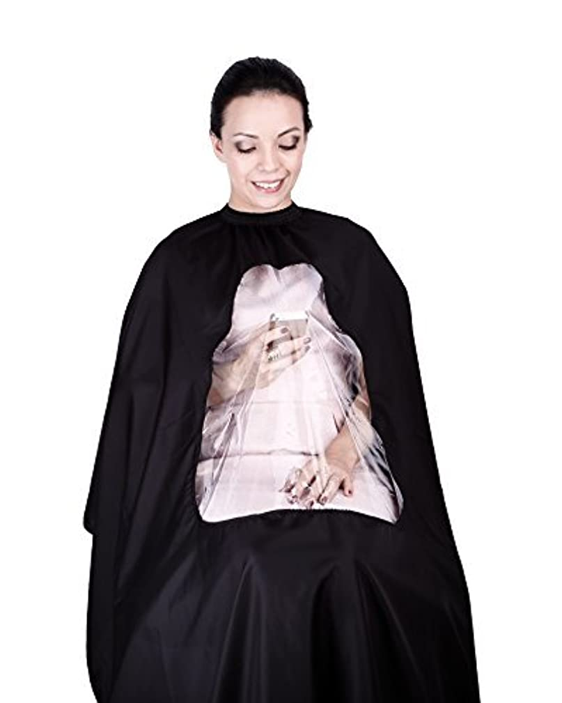 発掘市長支払いhiLISS Transparent Hair Cutting Cape Salon Barber Gown with Viewing Window, Comes with a Free Gift PRO CB1 Carbon...
