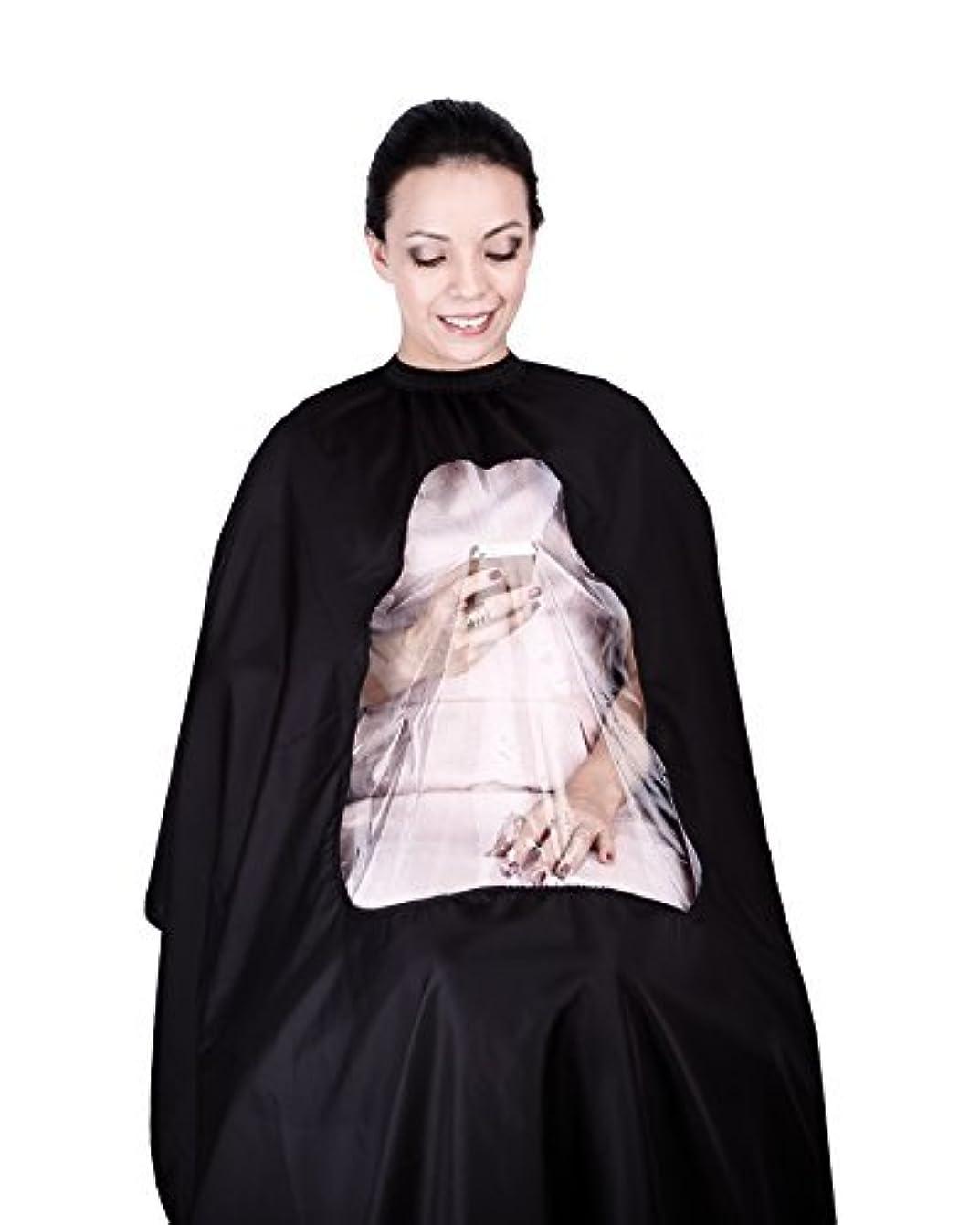 ズームインする大宇宙快適hiLISS Transparent Hair Cutting Cape Salon Barber Gown with Viewing Window, Comes with a Free Gift PRO CB1 Carbon...