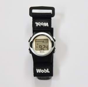 アラーム腕時計ウォブル (シルバー) 強力バイブレータ付き
