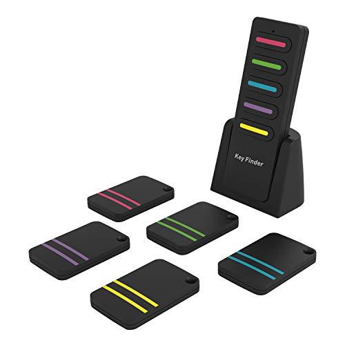 【キーファインダー】LOBKIN 探し物発見器 忘れ物防止 忘れ物探知機 操作簡単 CR2032のボタン電池6つ付き 鍵・携帯・リモコン・財布紛失防止 Key finder