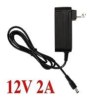 (Power Adapter) - BZONE Black AC 100-240V to DC 12V 2A Power Adapter for 12 volt 5050 3528 SMD LED Strip Light String Lights