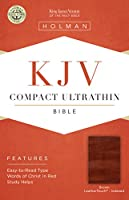 Holy Bible: King James Version,  Brown, LeatherTouch, Ultrathin