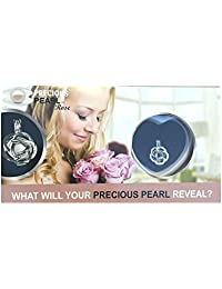 """Precious Pearl by My Inspirations Pearl in Oyster Kit, Mysterious Pearl Gift Set, 20"""" Chain (Rose)"""