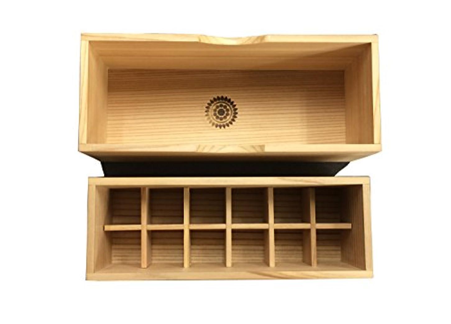 ICA国際クレイセラピー協会【秋田杉の香油箱(12個タイプ)】