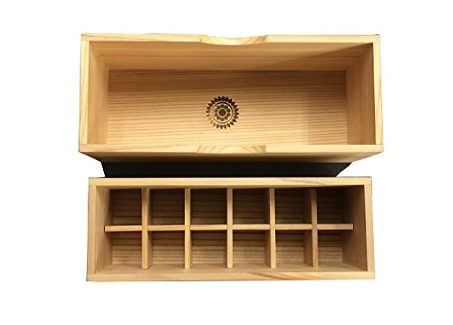 メイド保持厚いICA国際クレイセラピー協会【秋田杉の香油箱(12個タイプ)】