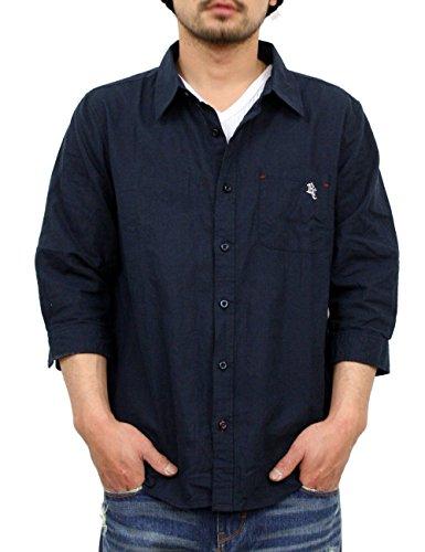 リアルコンテンツ シャツ メンズ 7分袖 綿麻 ボタン リネン