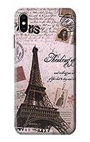 JP2211IXM パリエッフェル塔ポストカード Paris Postcard Eiffel Tower iPhone XS Max ケース