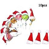 Lindexs サンタクリスマス帽 サンタの帽子 キャンディ飾り クリスマス装飾 ロリポップ用 小物飾り Christmas (赤)