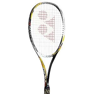 ヨネックス(YONEX) ネクシーガ50V+サービスガット張り上げ NXG50V402+DK003 シャインイエロー(402) ソフトテニスラケット 軟式テニスラケット 前衛向け 2018年2月末発売 (UL0-軽めで細いグリップ, 25P)