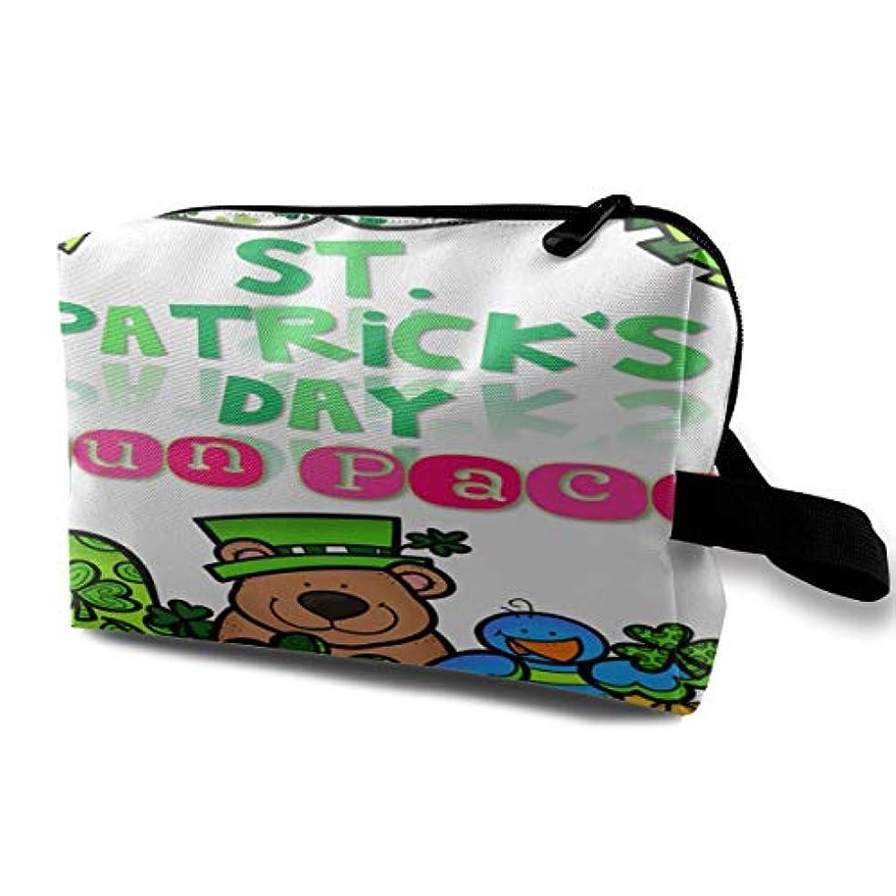 荷物モード書誌St. Patrick's Day Fun Pack 収納ポーチ 化粧ポーチ 大容量 軽量 耐久性 ハンドル付持ち運び便利。入れ 自宅?出張?旅行?アウトドア撮影などに対応。メンズ レディース トラベルグッズ