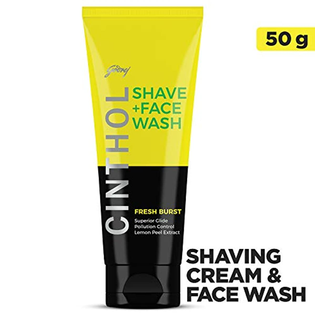 ピービッシュ化合物受付Cinthol Fresh Burst Shaving + Face Wash, 50g