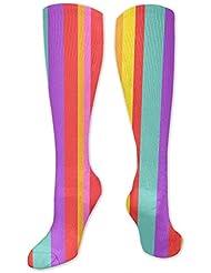 靴下,ストッキング,野生のジョーカー,実際,秋の本質,冬必須,サマーウェア&RBXAA Â Rainbow Stripe Socks Women's Winter Cotton Long Tube Socks Cotton...