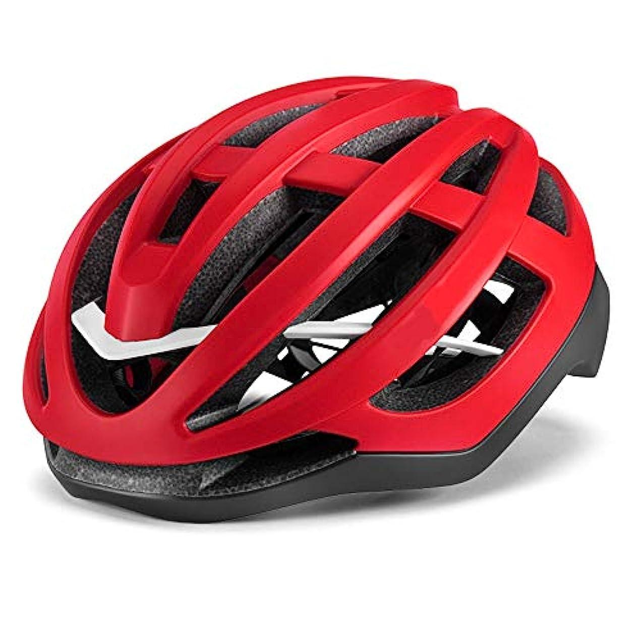 セージ例示するプラグTOMSSL高品質 自転車乗馬ヘルメット空気圧ヘルメットマウンテンロードバイク機器大人男性と女性 TOMSSL高品質 (色 : Red, Size : M)