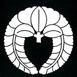 家紋シール 張り紋 黒紋付用 日向紋 3.9cm 6枚組 下り藤(丸なし)