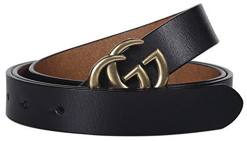 ファッション 人気 バックル ゴルフ 2.5cm Gベルト スリム レディ 女性 belt ~ ベルト幅2.5cm (95cm (ウエスト 27