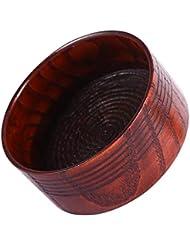 Yuyte 木製 シェービングソープボウルカップマグツールナチュラルマンシェーバーかみそりクレンジングフォームラウンド