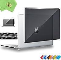 """ueswill 3in1光沢クリスタルクリアSee ThroughハードシェルケースwithシリコンキーボードカバーMacbook Air +マイクロファイバークリーニングクロス MacBook 12"""" ブラック UES07C12M3-01"""
