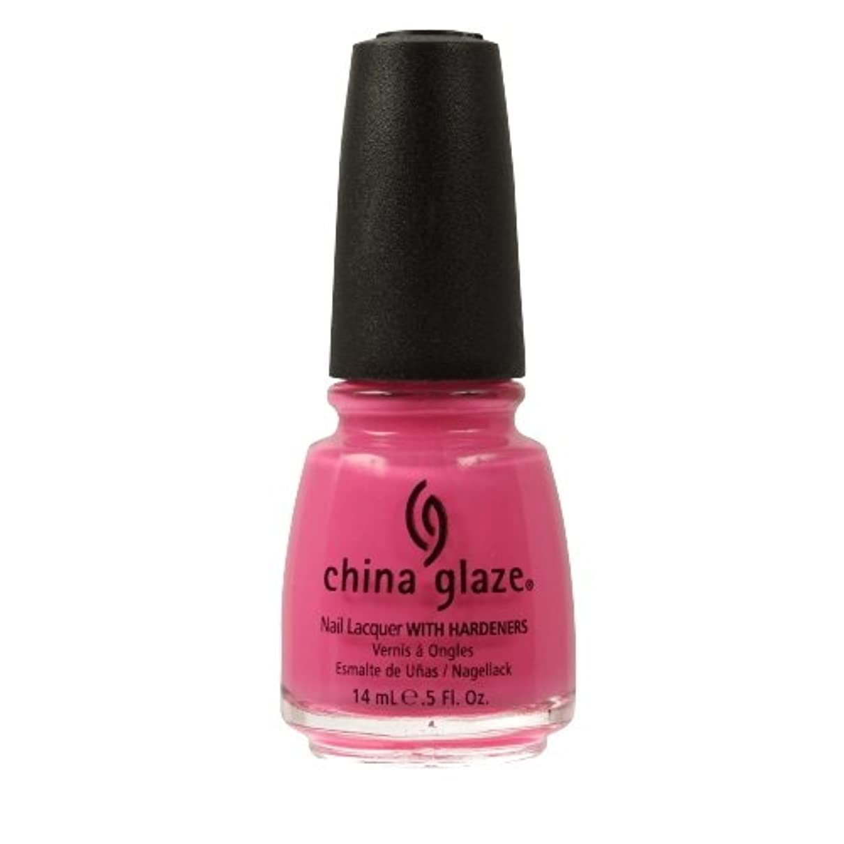 頭種類致死CHINA GLAZE Nail Lacquer with Nail Hardner - Shocking Pink