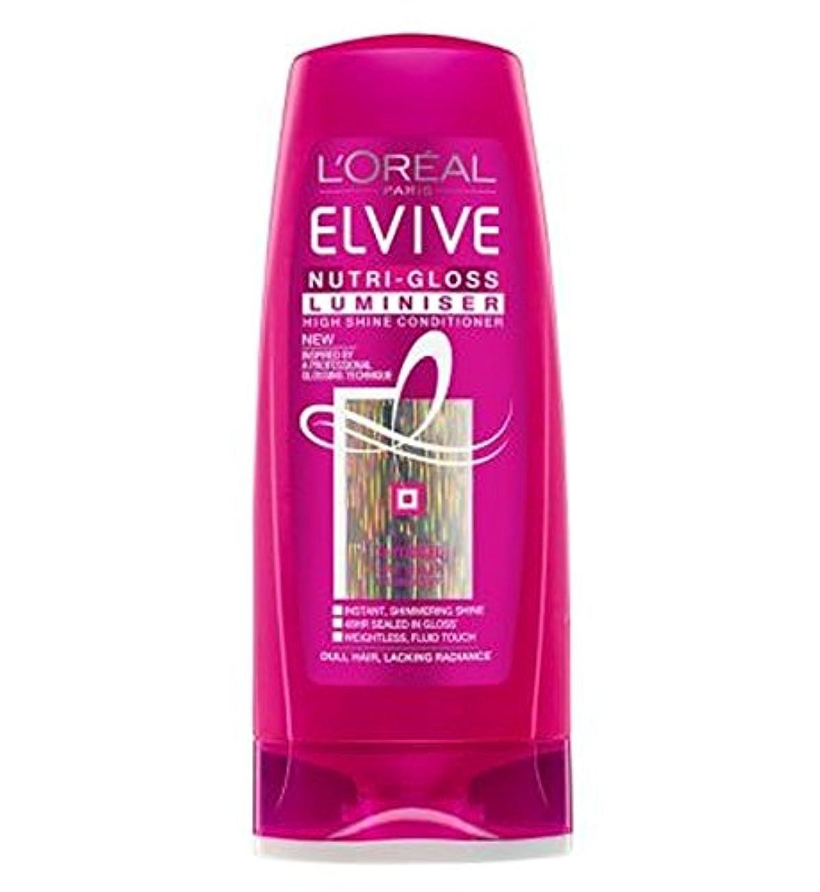 錆び称賛コントロールロレアルElviveニュートリグロスLuminiserコンディショナー250ミリリットル (L'Oreal) (x2) - L'Oreal Elvive Nutri-Gloss Luminiser Conditioner...