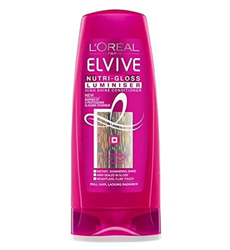 裏切り広々とした住所ロレアルElviveニュートリグロスLuminiserコンディショナー250ミリリットル (L'Oreal) (x2) - L'Oreal Elvive Nutri-Gloss Luminiser Conditioner...