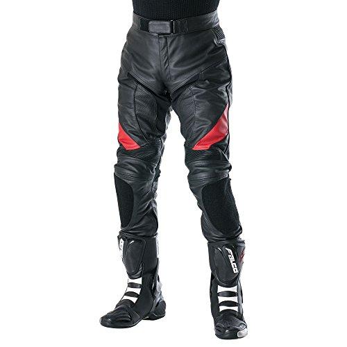 南海部品 NANKAI(ナンカイ) レザーパンツ ブラック/レッド サイズM RDP10 バイク/オートバイ/革パンツ/ズボン RDP10A-M