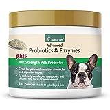 NaturVet – Advanced Probiotics & Enzymes - Plus Vet Strength PB6 Probiotic – Designed for Pets with Sensitive Stomachs & Dige