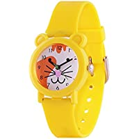 Wolfteeth Analog Boy Kids Girls Toddler School Day Wrist Watch with Second Hand Cute Small Face White Dial Water Resistant Little Watch 3064
