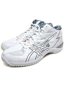 asics(アシックス) バスケットボール シューズ GELHOOP V6 WC-wide ホワイト/シルバー/ネイビー TBF316 0151 30cm