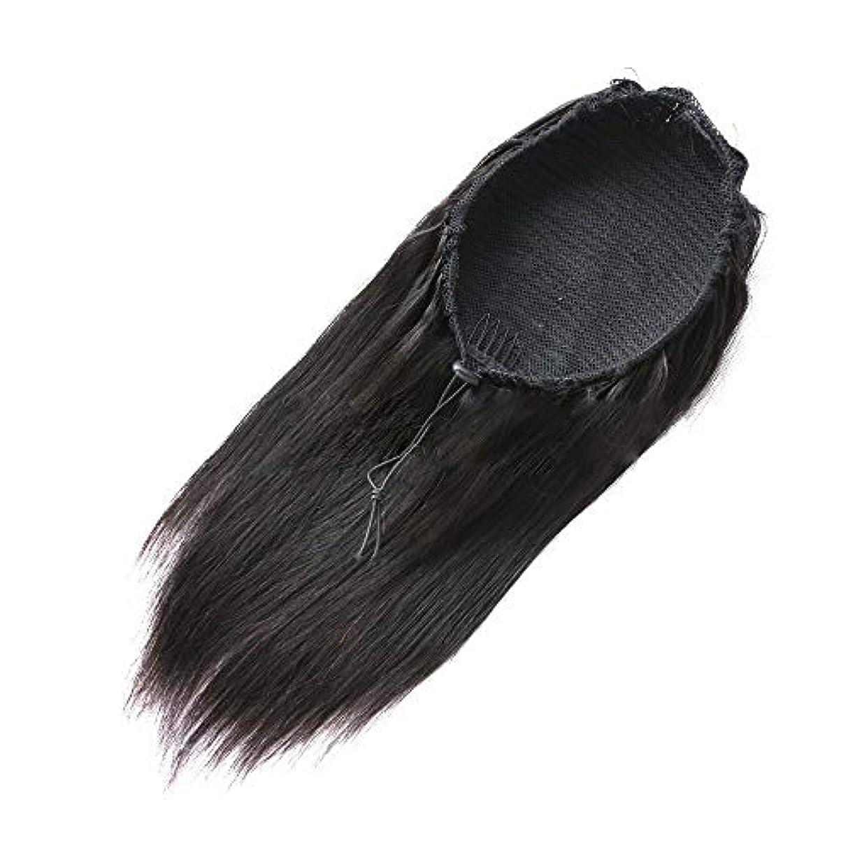 敵意中絶フェードアウトSRY-Wigファッション ファッションかつら人毛レース閉鎖かつらマレーシアレミー人毛かつら未処理レースフロントかつら女性の自然な色 (Color : ブラック, Size : 18inch)