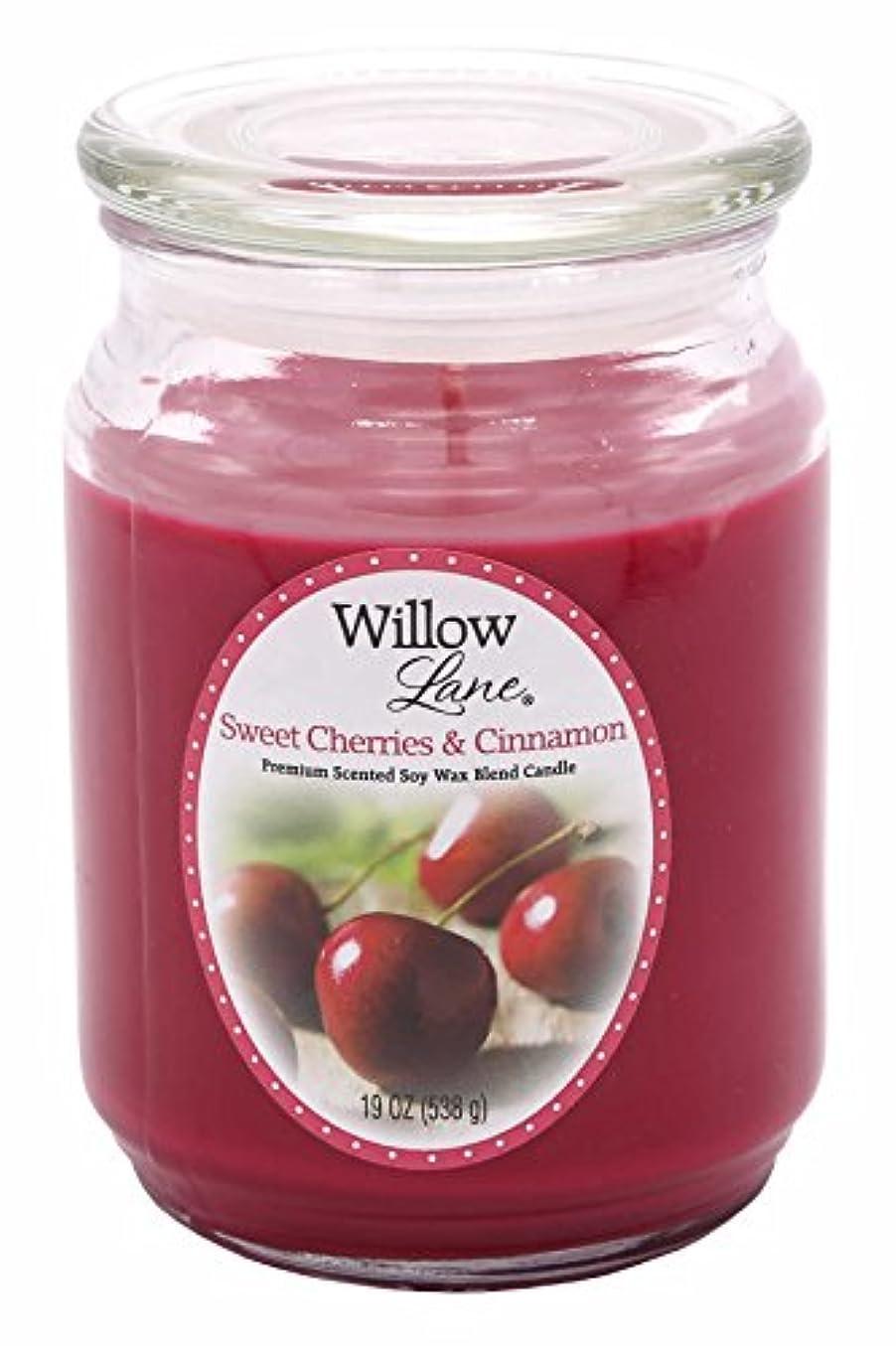 調子粒ゲートウェイCandle Lite 1646991 Scented Candle、Sweet Cherries &シナモン、19-oz。 19 oz レッド 1646991